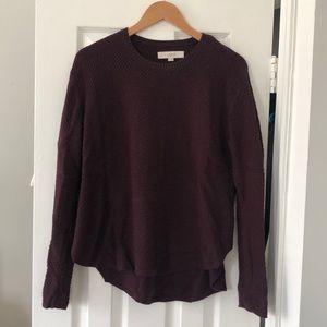 LOFT maroon sweater - size M